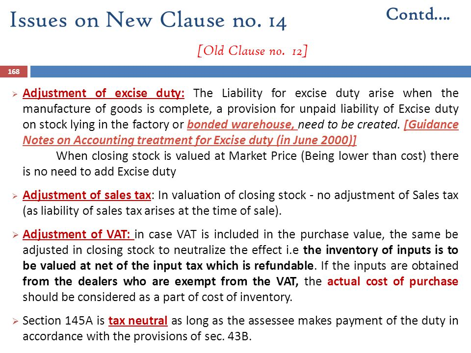 Issues on New Clause no. 14 [Old Clause no. 12]